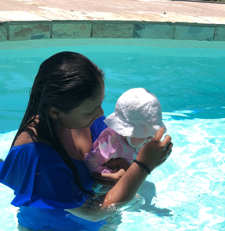De zorg voor een baby